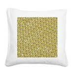 School of Clownfish Pattern Square Canvas Pillow