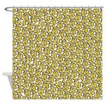 School of Clownfish Pattern Shower Curtain