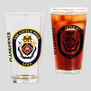 USS Little Rock Plank Owner Drinking Glass