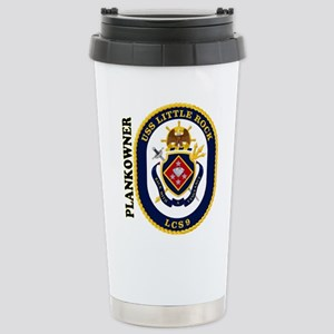 USS Little Rock Plank O Stainless Steel Travel Mug