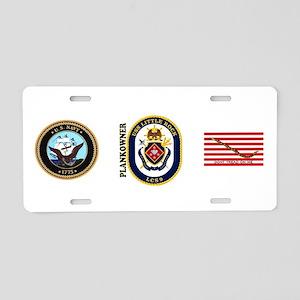 USS Little Rock Plank Owner Aluminum License Plate