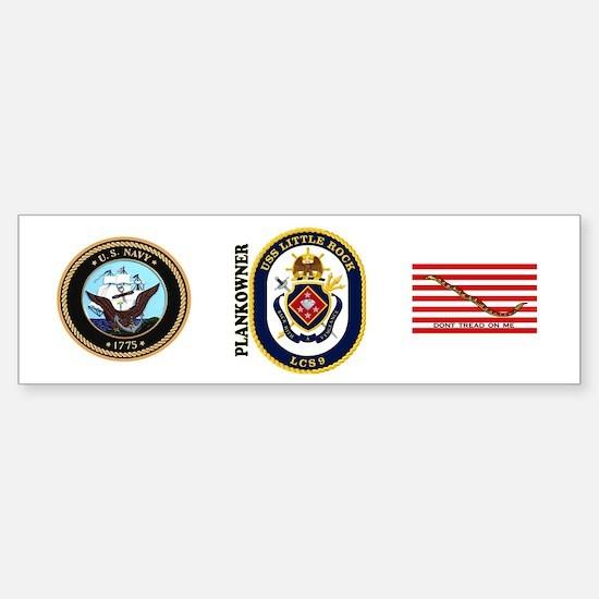 USS Little Rock Plank Owner Sticker (Bumper)