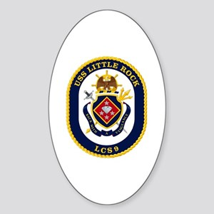 USS Little Rock LCS-9 Sticker (Oval)