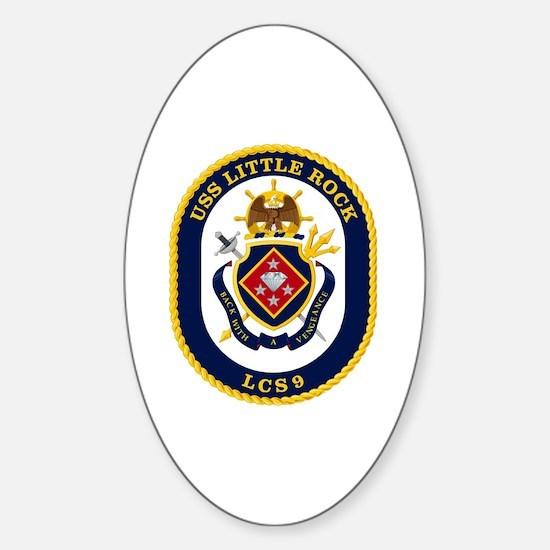 USS Little Rock LCS-9 Sticker (Oval)