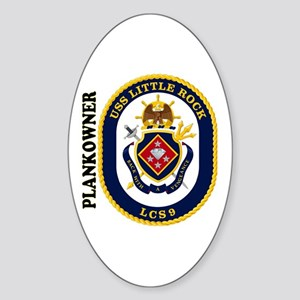 USS Little Rock Plank Owner Sticker (Oval)