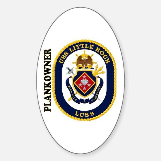 USS Little Rock Plank Owner Sticker (Oval)