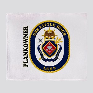 USS Little Rock Plank Owner Throw Blanket