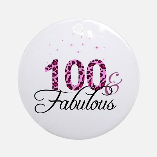 100 and Fabulous Ornament (Round)