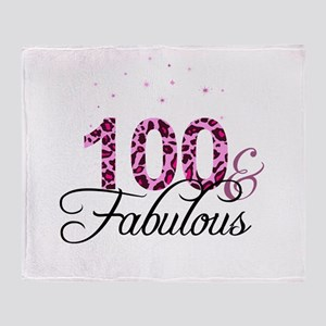 100 and Fabulous Throw Blanket