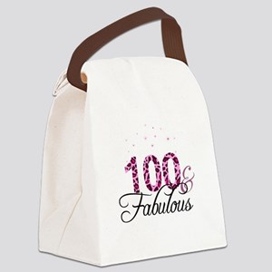 100 and Fabulous Canvas Lunch Bag