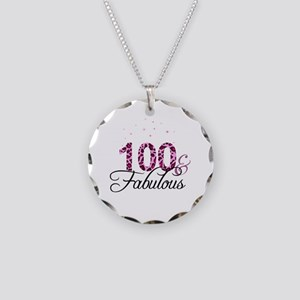 100 and Fabulous Necklace Circle Charm