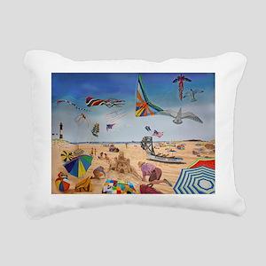 Robert Moses Beach Rectangular Canvas Pillow