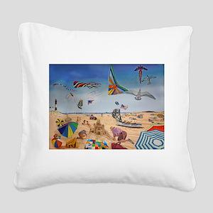 Robert Moses Beach Square Canvas Pillow