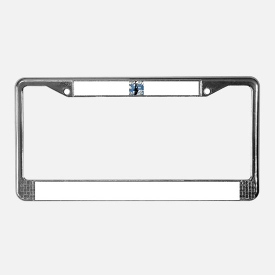 Rusty the Lineman License Plate Frame
