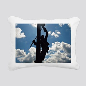 Rusty the Lineman Rectangular Canvas Pillow