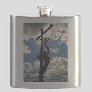 Rusty the Lineman Flask