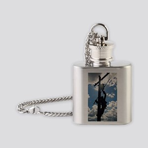 Rusty the Lineman Flask Necklace