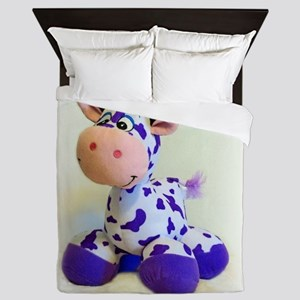 Purple Cow Queen Duvet