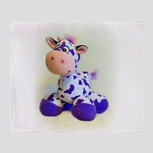 Purple Cow Throw Blanket