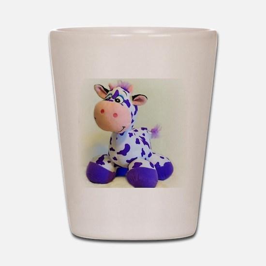 Purple Cow Shot Glass