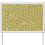 School of Clownfish Pattern Yard Sign