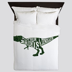 My Other Ride is a Dinosaur Queen Duvet