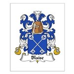 Blaise Family Crest Small Poster