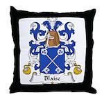 Blaise Family Crest Throw Pillow
