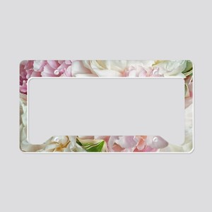 Blooming Peonies License Plate Holder