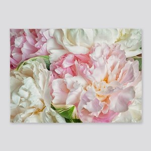 Blooming Peonies 5'x7'Area Rug