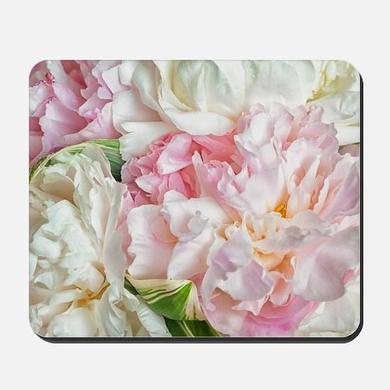 Blooming Peonies Mousepad