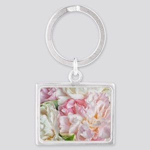 Blooming Peonies Landscape Keychain