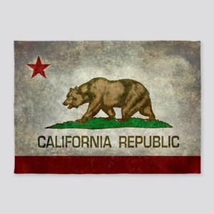 State flag of California - Vintage 5'x7'Area Rug