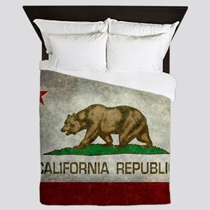 State flag of California - Vintage ret Queen Duvet