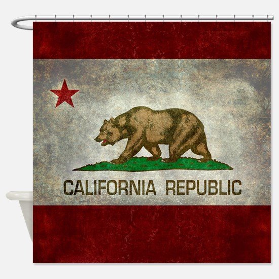 State flag of California - Vintage Shower Curtain