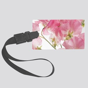 sweet pea Large Luggage Tag