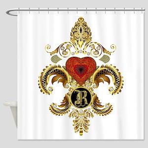 Fleur-De-Lis 1 Dae Collections Shower Curtain