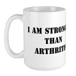 I am Stronger than Arthritis Large Mug