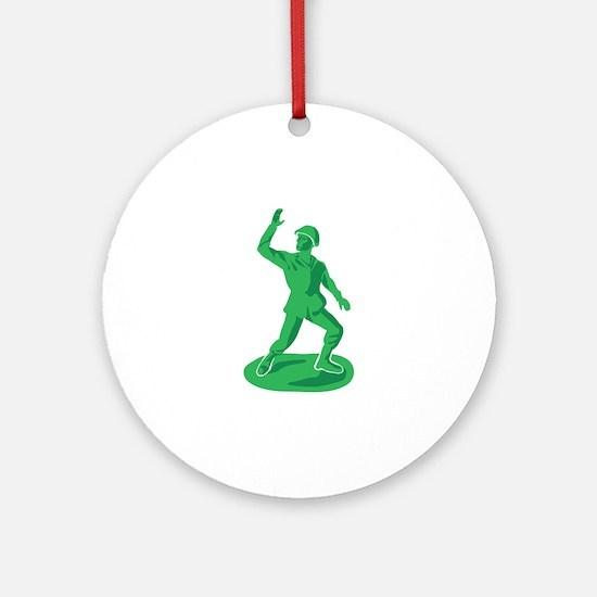 Toy Soldier Ornament (Round)