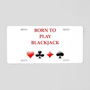 blackjack Aluminum License Plate