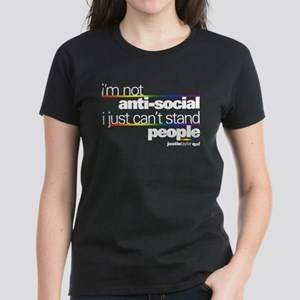 I'm Not Anti-Social Women's Dark T-Shirt