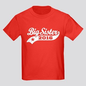 Big Sister 2016 Kids Dark T-Shirt