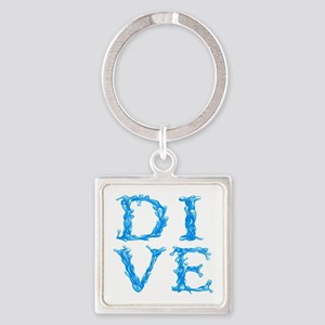 DIVE Square Keychain