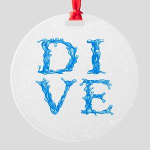 DIVE Round Ornament