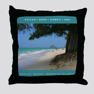 Mokulua Islands Throw Pillow