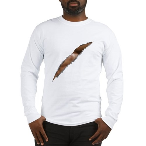 Rage Ripped Chest Long Sleeve T-Shirt
