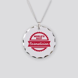 World's best cosmetician Necklace Circle Charm