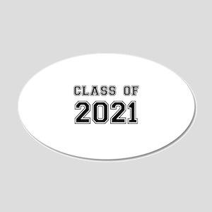 Class of 2021 Wall Sticker