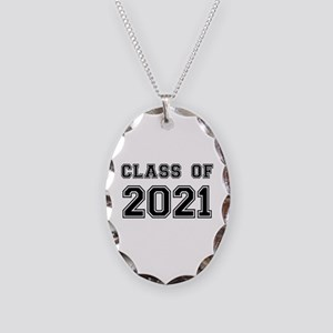 Class of 2021 Necklace Oval Charm