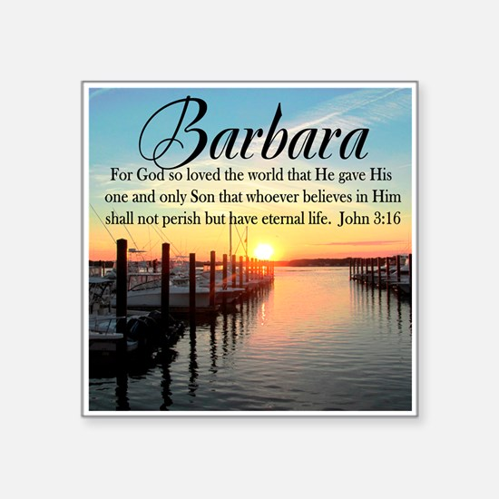 "JOHN 3:16 VERSE Square Sticker 3"" x 3"""